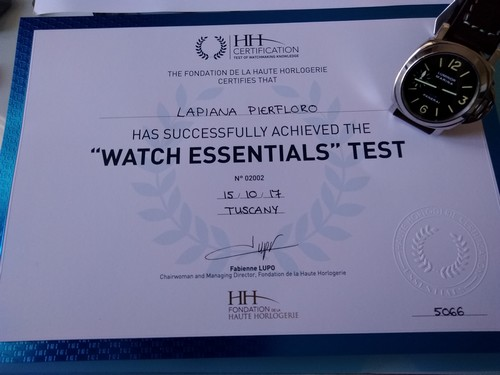 Corso FHH Watch Essentials, Ott. 2017