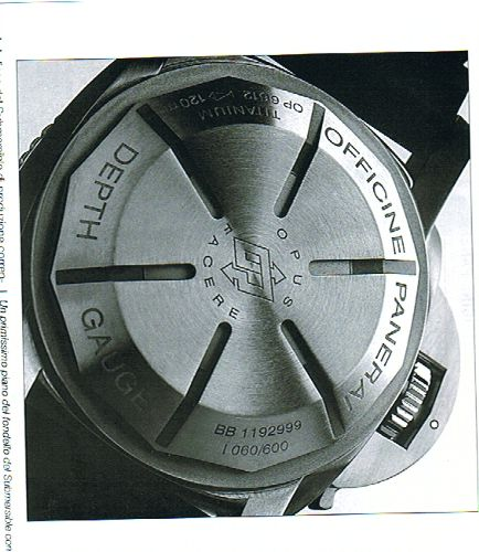 Photos taken from the no. 199 of the italian monthly Orologi of the june 2006